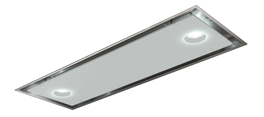 Встраиваемая вытяжка Smeg KSG74B нержавеющая сталь, белое стекло, фото 1