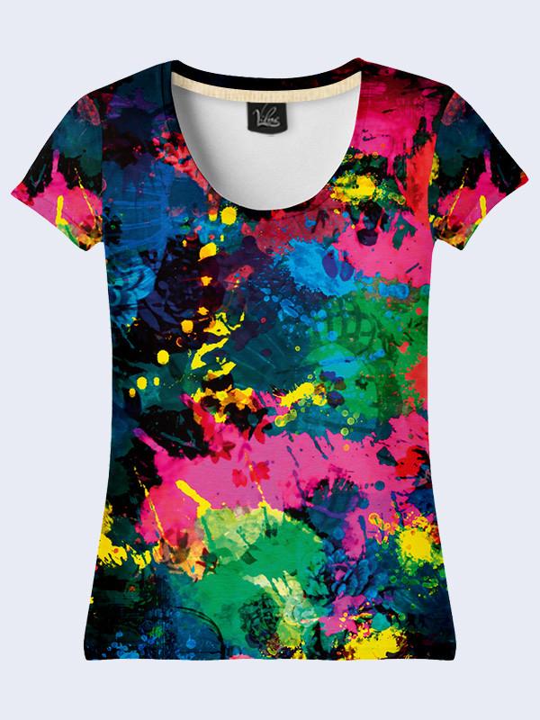 Женская футболка БРЫЗГИ
