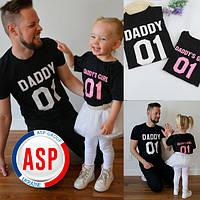 Футболки для фотосессии всей семьи Family Look Фэмили лук футболки для папы и дочки на заказ от 1год