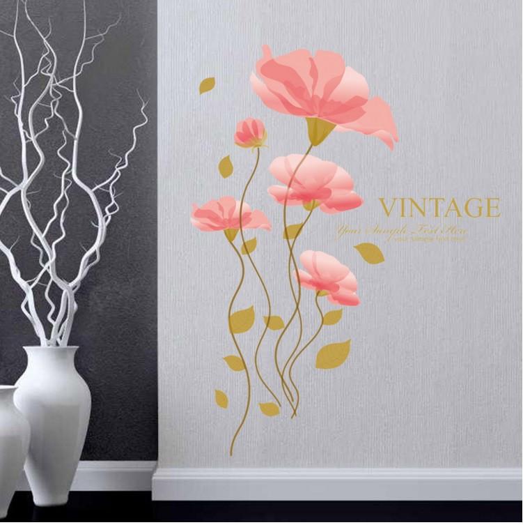 Нежная наклейка для домашнего декора Цветы