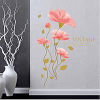 Нежная наклейка для домашнего декора Цветы, фото 1