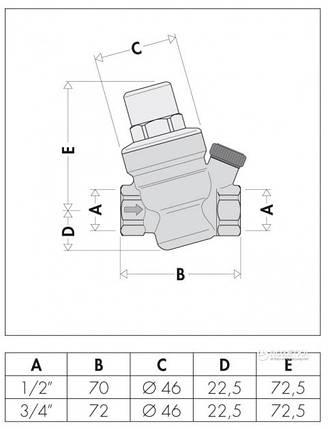 """Редуктор давления CALEFFI с отверстием для манометра 3/4"""" (533451) , фото 2"""