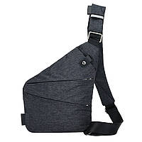 Сумка рюкзак через плечо мессенджер Cross Body Bags 6016 - ТЁМНО СЕРАЯ D10012