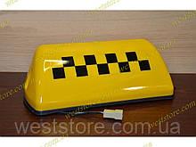 """Фонарь  """"Такси""""    желтый шашка с проводом на магните"""