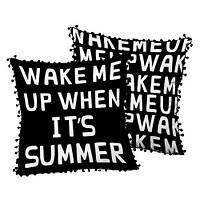 Подушка декоративная с помпонами Wake me up 45х45 см (45ISP_URB005)