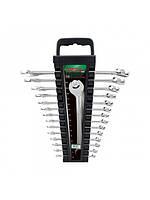 Набор ключей комбинированных Toptul на холдере 14 ед. 6-24 мм GAAC1401