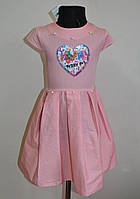 Летнее детское платье сарафан на девочку 5-10 лет с паетками, фото 1