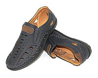 Мужские туфли с перфорацией на каждый день
