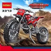 Конструктор Decool 3373 Горный мотоцикл 2-в-1, 253 дет.