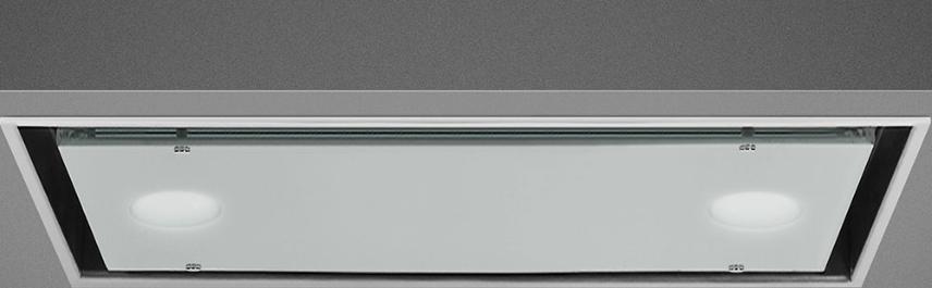 Встраиваемая вытяжка Smeg KSG52B нержавеющая сталь, белое стекло