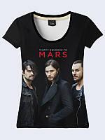 Женская футболка ГРУППА 30 SECONDS TO MARS
