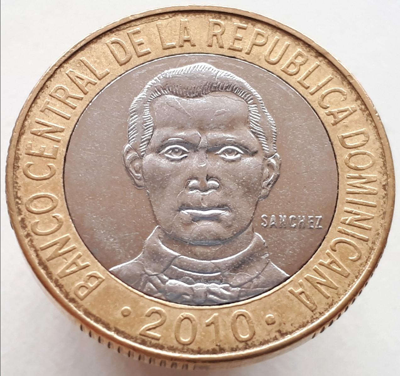 Доминикана 5 песо 2010