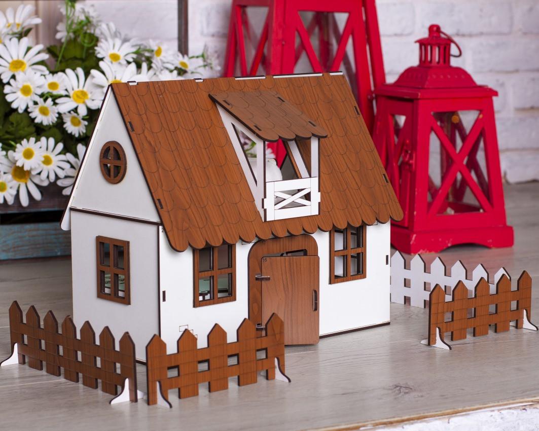 Будиночок для ляльок LOL Сільський Будиночок з меблями і світлом