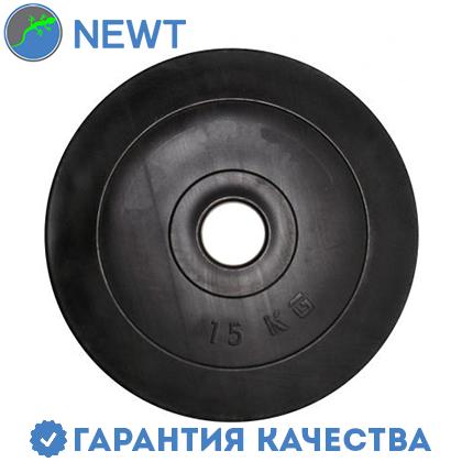 Диск  гантельный композитный в пластиковой оболочке Newt Rock Pro 15 кг, фото 2
