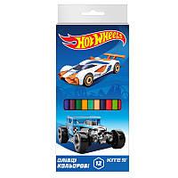 Карандаши цветные Kite 12цв Hot Wheels hw19-051