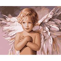 "Картина по номерам. Дети ""Ангел удачи"" 40*50см KHO2315"
