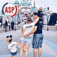 Футболки для всей семьи King Queen Princess Family Look Фэмили лук футболки парные для детей