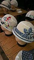Шляпа-сетка с цветком подросток