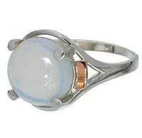 """Женское серебряное кольцо с золотыми пластинами """"Ирис""""4, фото 1"""
