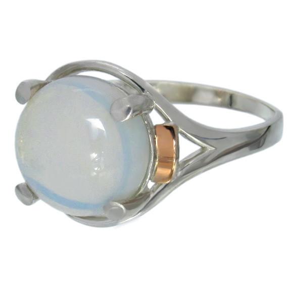 """Женское серебряное кольцо с золотыми пластинами """"Ирис""""4"""