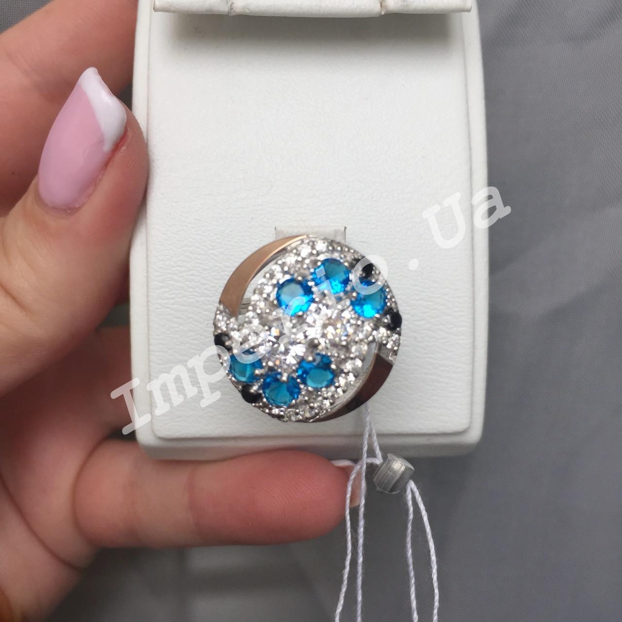 Серебряное кольцо с элементами золота ИРЕНА