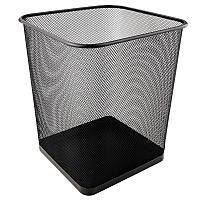 Корзина для бумаг Axent офисная квадратная 270x300мм метал черный (2124-01-a)