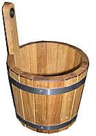 Шайка для бани дубовая (4 л)
