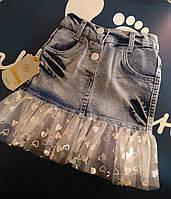 Юбка джинсовая. Юбка джинсовая с фатином. 1,2,3 года