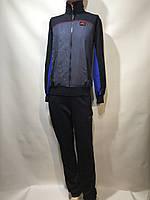 Мужской спортивный костюм Nike Найк темно синий с электриком