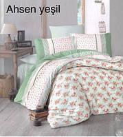 Постельное белье, евро размер, Турция,Altinbasak Ahsen yesil, ранфорс