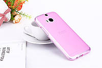 Чехол накладка для HTC One M8 розовый
