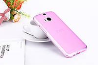 Чехол накладка для HTC One M8 розовый, фото 1