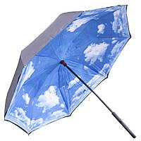☞Зонт Up-Brella Голубое небо двойное складывание антизонт женский ветрозащита умный зонт обратное сложение