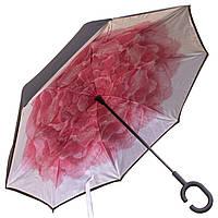 ★Зонт Up-Brella Роза умный смарт зонт ветрозащитный обратного сложения длинная ручка Hands Free