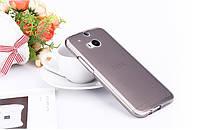 Чехол накладка для HTC One M8 серый