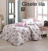 Постельное белье, евро комплект, Турция,Altinbasak Gliselle lila, ранфорс