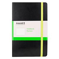 Записная книга блокнот Axent 125x195мм 96л точка,черная Partner Flex 8209-01-a