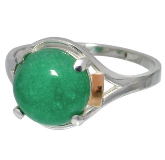 """Серебряное кольцо с накладками золота """"Ирис"""""""