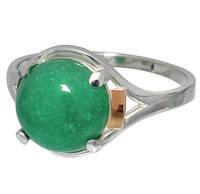 "Серебряное кольцо с накладками золота ""Ирис"", фото 1"
