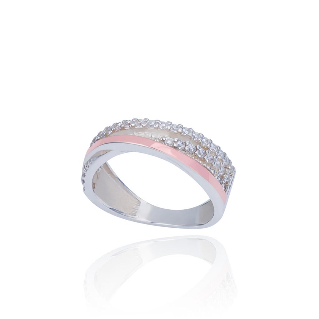 Серебряное кольцо с накладкой золота ЭМИЛИЯ