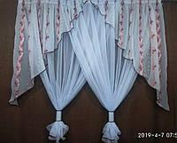 Занавеска на кухонное окно на карниз 2.5 м Высота 1.8 м, фото 1