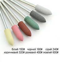 Фреза-полировщик силиконовая Пуля №8, разная абразивность