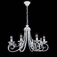 Классическая люстра-свеча на 8 лампочек СветМира VL-30945/8 (белая)