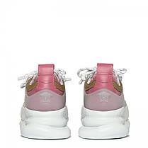 """Кросівки Versace Chain Reaction """"Білі\Рожеві"""", фото 2"""
