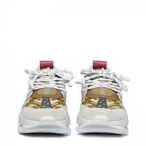 """Кросівки Versace Chain Reaction """"Білі\Рожеві"""", фото 3"""