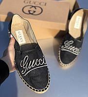 Эспадрильи мужские Gucci D3807 черные