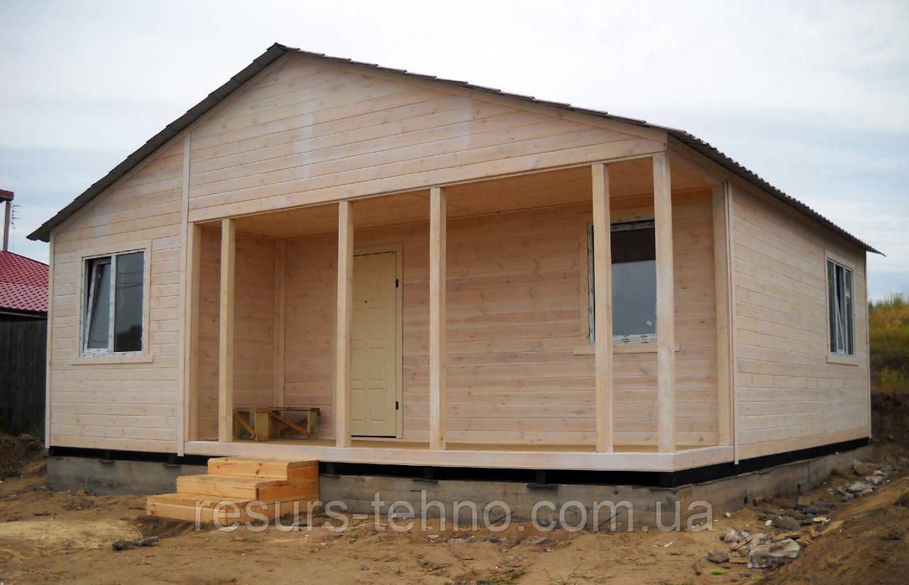 Домик дачный 6м х 6м с внутренней терассой