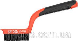 Щетка 6-рядная нейлоновая с пластиковой ручкой 180 мм Yato YT-6349