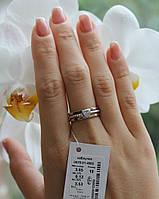 Серебряное кольцо с золотой пластиной Арт.876