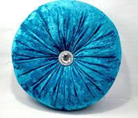 Подушка декоративная для дивана  цвет - голубой